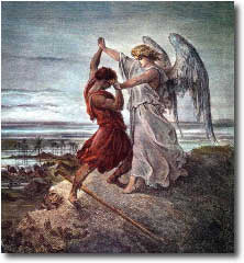 Jacob wrestling with the Angel of the Lord